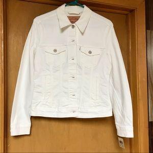 Levi White Denim Jacket
